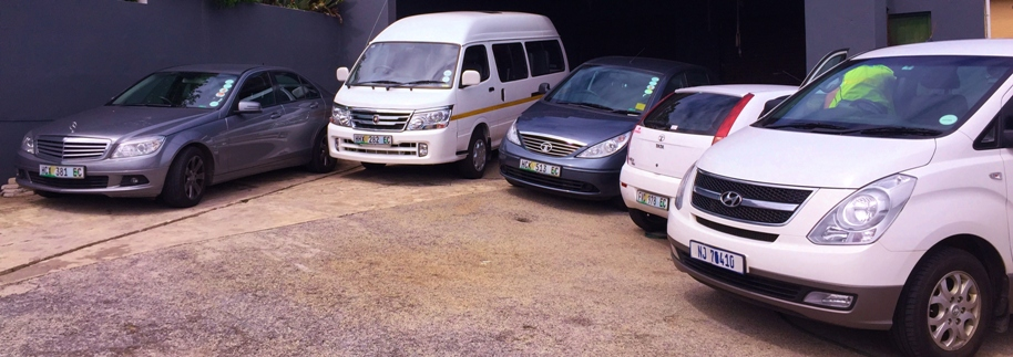 Transportation of crew with our fleet of vehicles